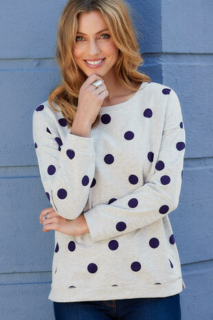 Flock Print Sweater