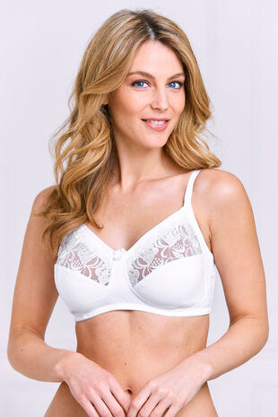 Cotton Lace Insert Control Bra