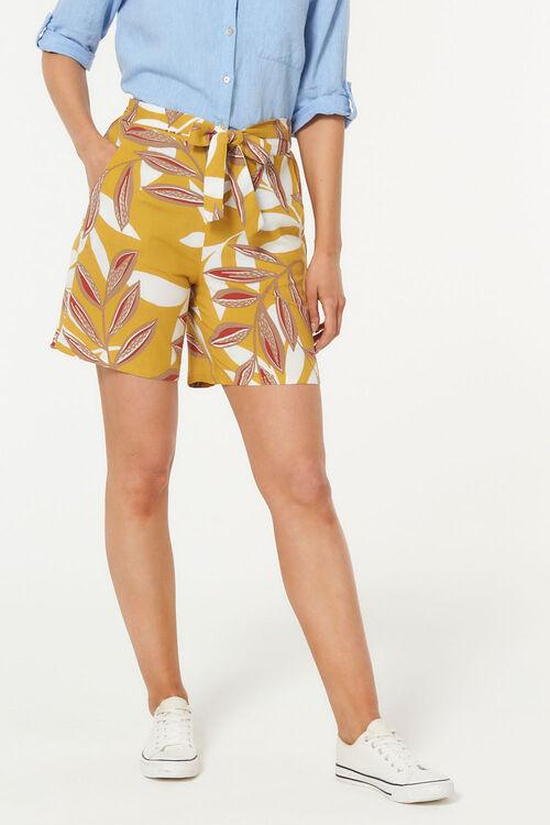 Leaf Belted Flippy Short