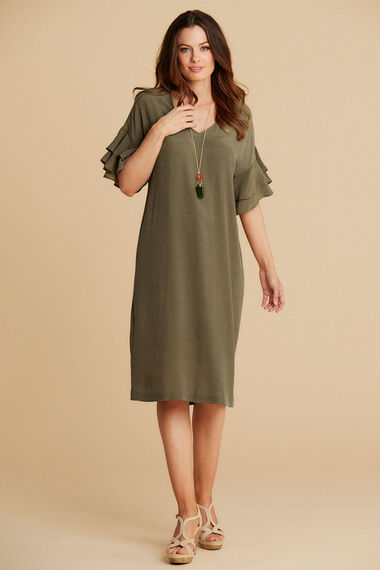Salvari Ruffle Sleeve Dress