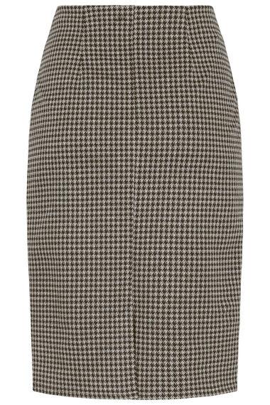 Dogstooth Ponte Pencil Skirt