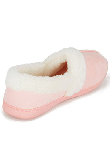 Suedette Fur Trim Slipper