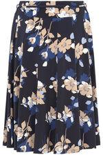 Pansy Print A Line Skirt