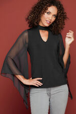 Izabel Chiffon Batwing Sleeve Top