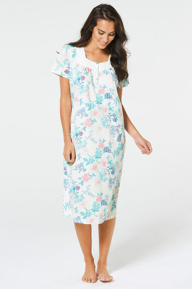 Large Floral Classic Nightdress