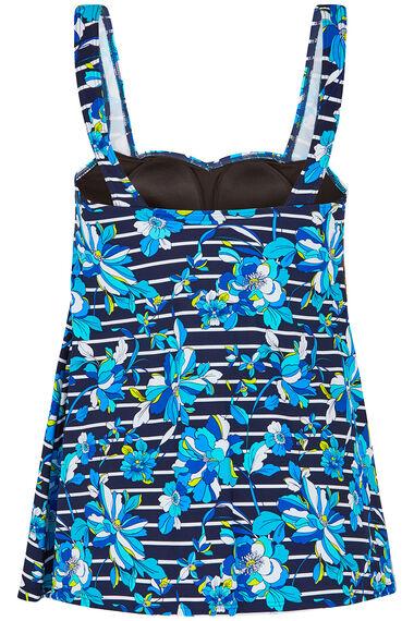 Floral Stripe Swimdress
