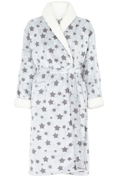 Star Print Dressing Gown