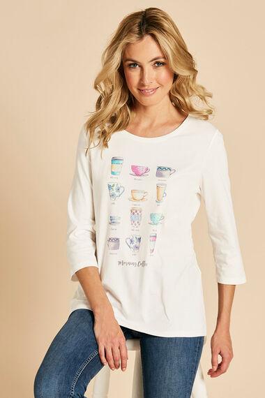 Coffee Cup Print T-Shirt
