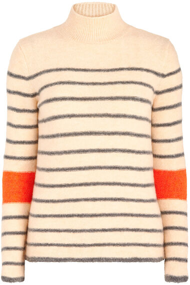 Join Us Stripe Turtle Neck Jumper