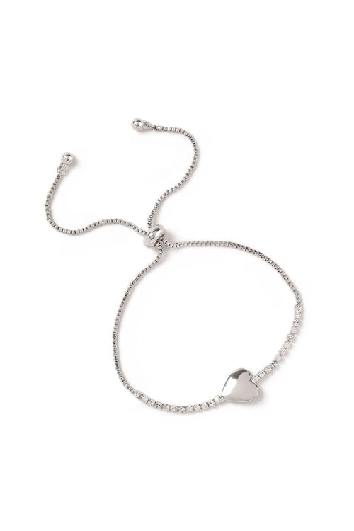 Muse Crystal Cupchain Heart Toggle Bracelet