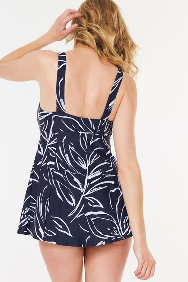 Floral Tab Front Swimdress