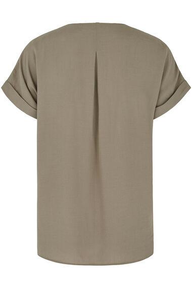 Zip Front Blouse
