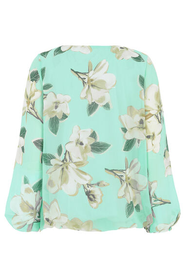 Floral Printed Blouse with Bar Detail