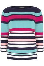 Stripe Jumper with Button Cuffs