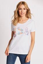 Sandal Placement Print T-Shirt
