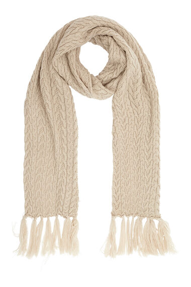 Super Soft Bobble Knitted Scarf