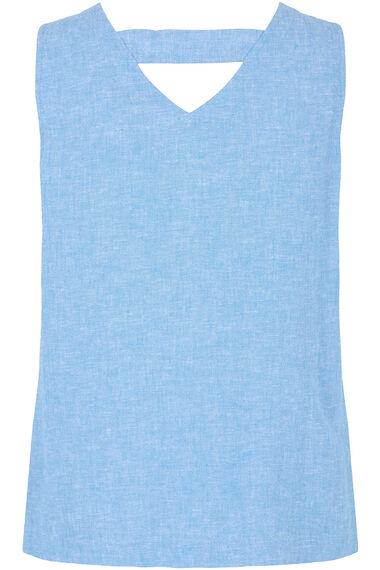 Plain Linen Blend Vest