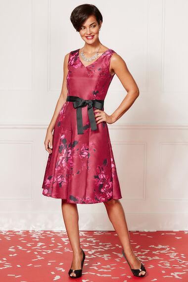Floral Printed Prom Dress