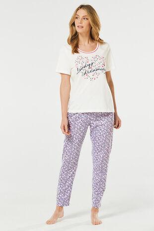 Always Dreaming Slogan Pyjama Set