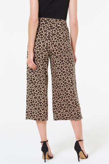 Animal Print Jersey Culotte