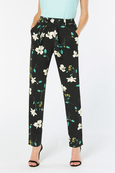 Floral Linen Blend Trouser