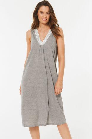 Grey Lace Nightdress