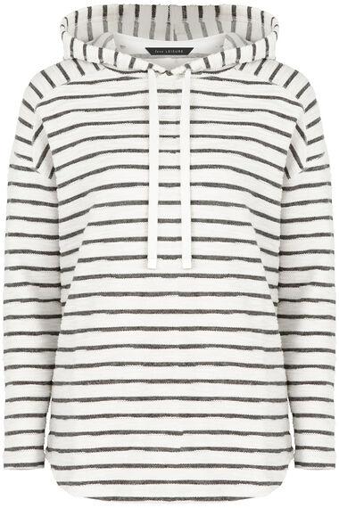 Stripe Textured Overhead Hoody