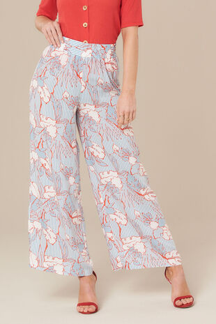 Grace By Eda Floral Wide Leg Trouser