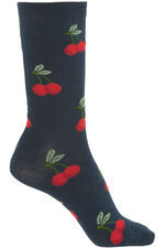 3 Pack Cherry Printed Sock