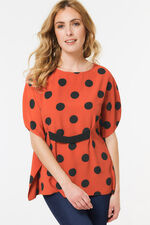 Spot Cape Top with Waist Band