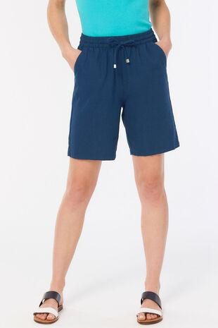 Plain Linen Blend Short