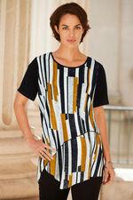 Izabel Stripe Long Length Top