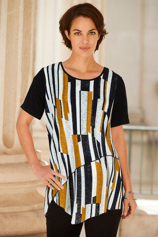 Izabel Stripe Long Length Top
