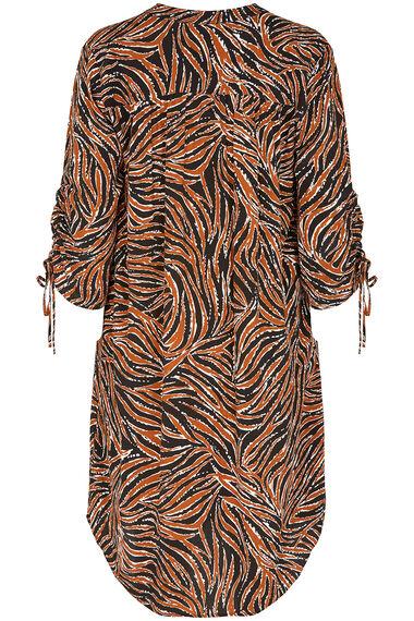 Grace By Eda Animal Print Tunic Dress