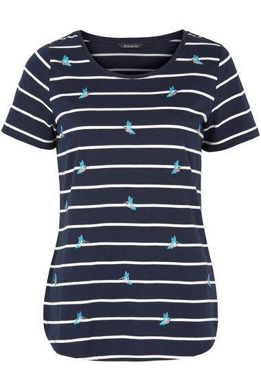Hummingbird Embroidered T-Shirt