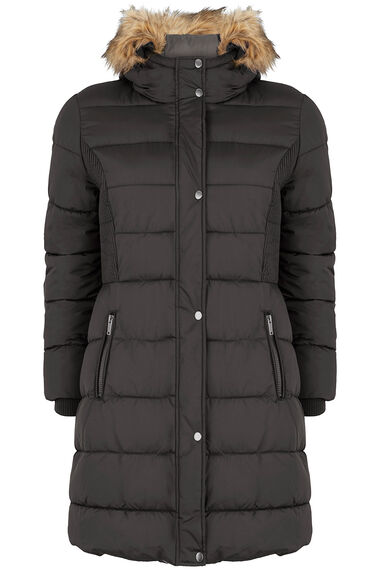 Longline Padded Coat with Hood