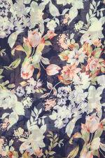 Beeline Navy Floral Printed Scarf