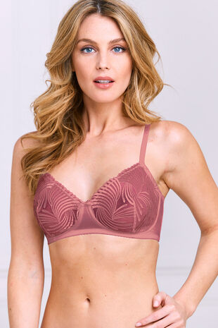 Linear Embroidered Bra