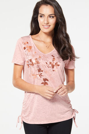 Longline Placement Print T-Shirt