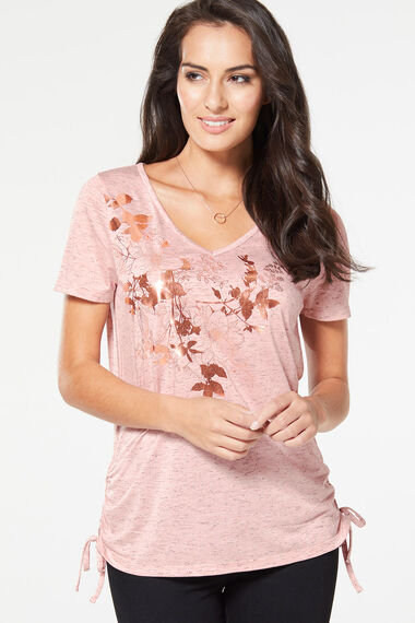 Longline Placement Print T-Shirt