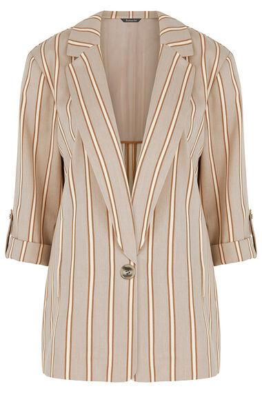 Striped Linen Look Blazer