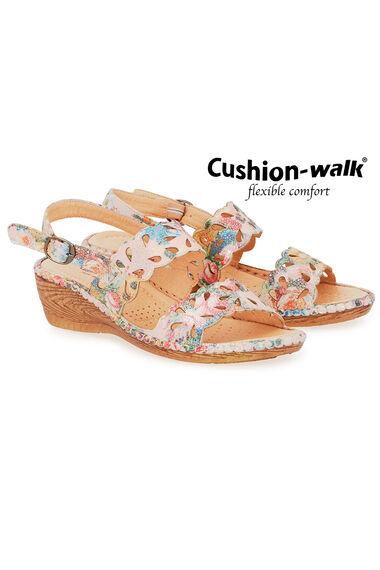 Cushion Walk Floral Buckle Fasten Sandal