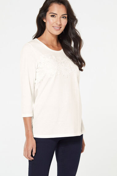 Lace Front Dail T-Shirt