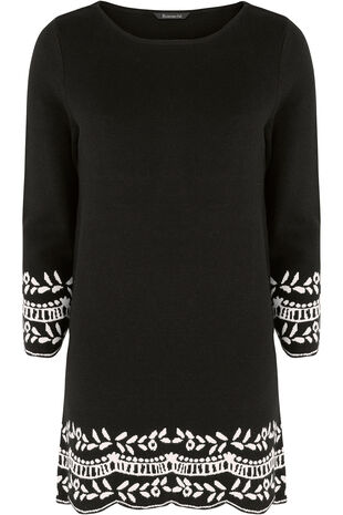Jacquard Hem And Cuff Tunic