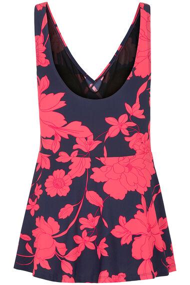 Floral Frill Wrap Skirt Swimdress