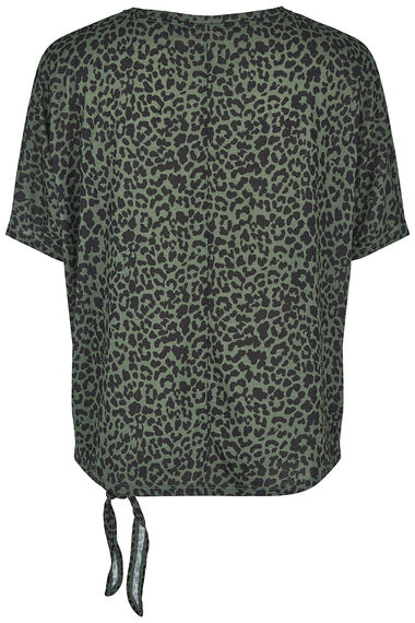 NVC Activewear Side Tie Animal Print Sports Top
