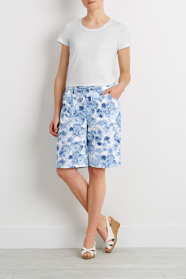 Pastel Floral Linen Shorts