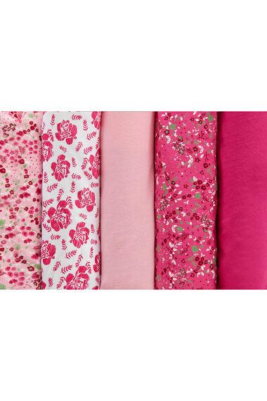5 Pack Ditsy Rose Floral Brief