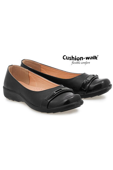 Cushion Walk Slip On Shoe with Buckle Detail