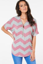 Stella Morgan Zig Zag with Zip Sweat